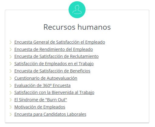 encuestas de recursos humanos