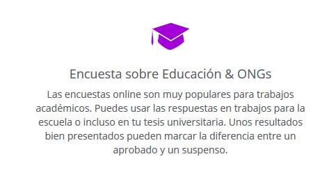encuestas online para educacion